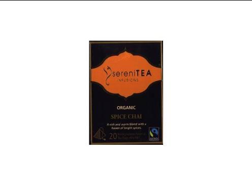 Spice Chai Organic Fairtrade tea   pyramid bags