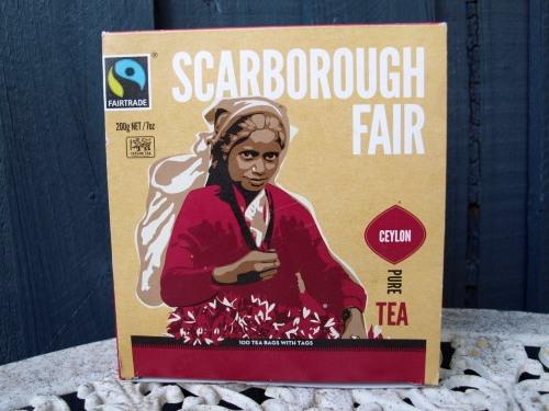 Scarborough Fair Fairtrade Pure Ceylon Black Tea x 100 tagged tea bags