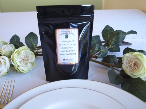 ethical wedding favour fairtrade coffee 60g