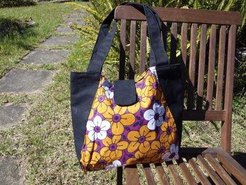 fair trade tote bag - leso (plum)