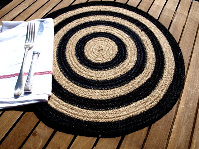jute tablemat willow