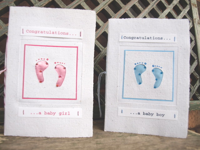 fair trade card - new baby