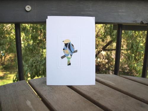 fair trade greeting card wagtail