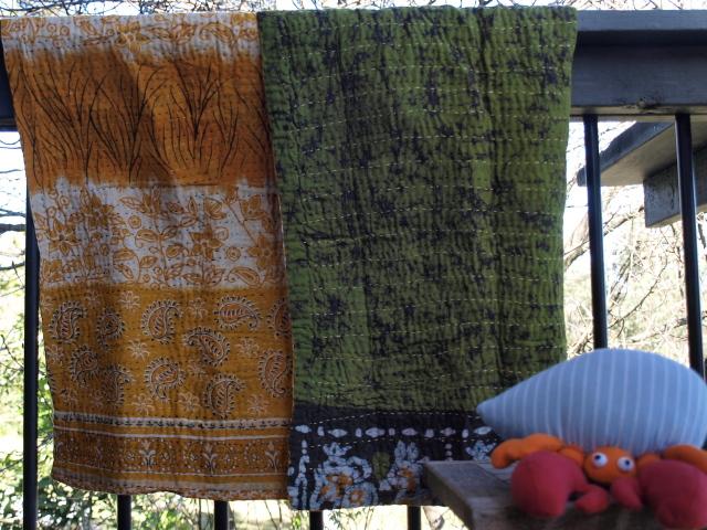 sari baby blanket quiet garden