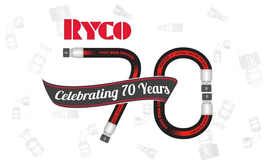 RYCO Celebrating 70 Years of Hydraulic Hose and Fittings
