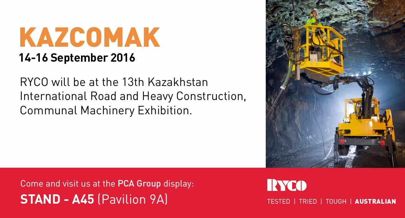 RYCO to exhibit at the 13th Kazcomak