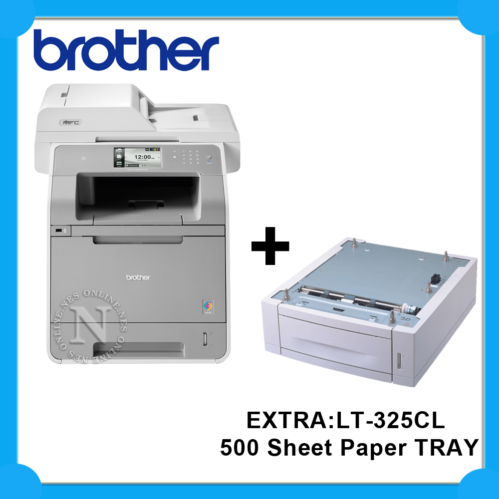 brother mfc l9550cdw 4in1 color laser wireless printer extra lt