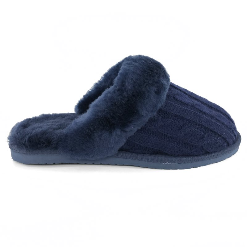 36905-Mubo-UGG-Women-039-s-Scuff-Slippers-NAVY-Colour