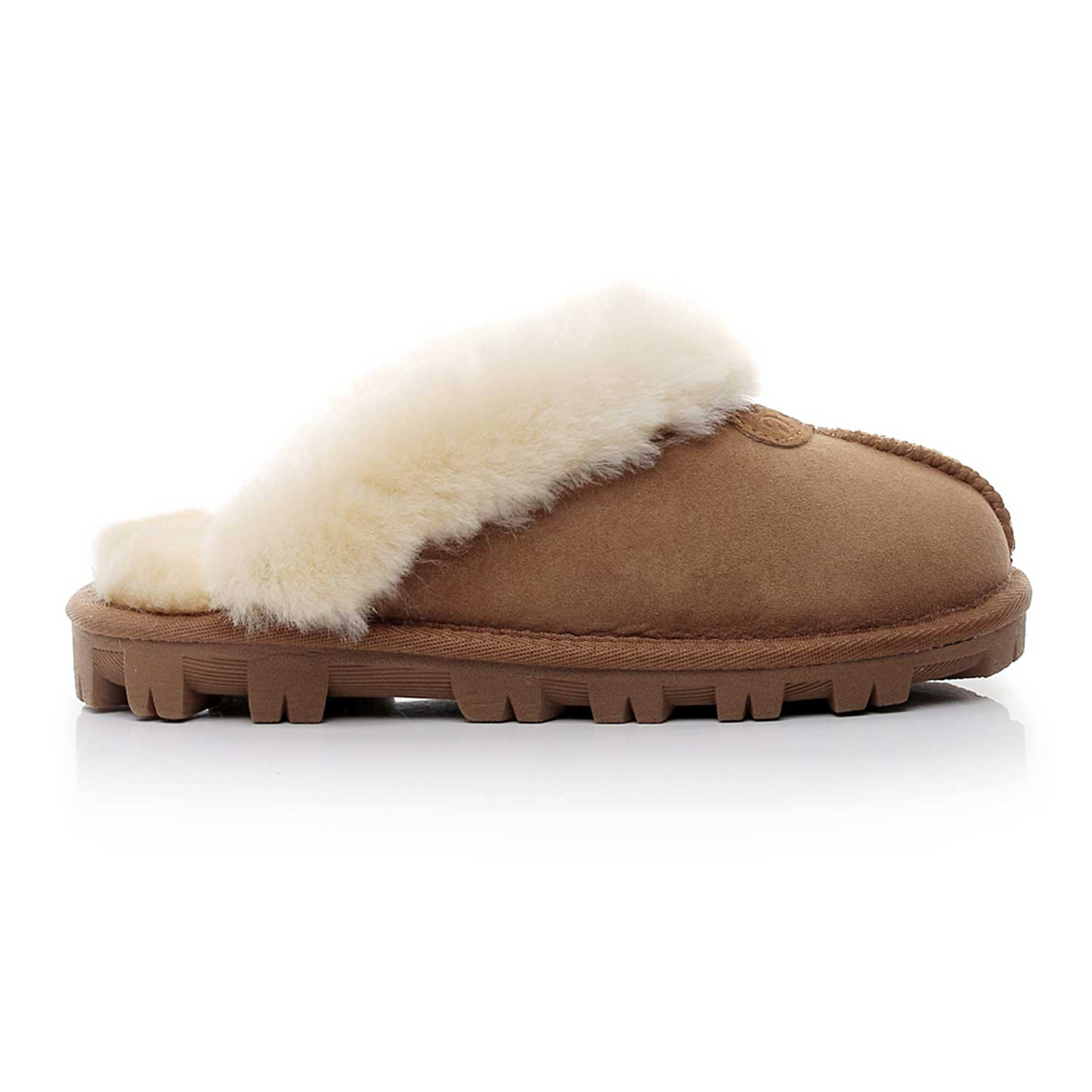 SW1200-Mubo-UGG-Women-039-s-Scuff-Slippers-Chestnut-Colour