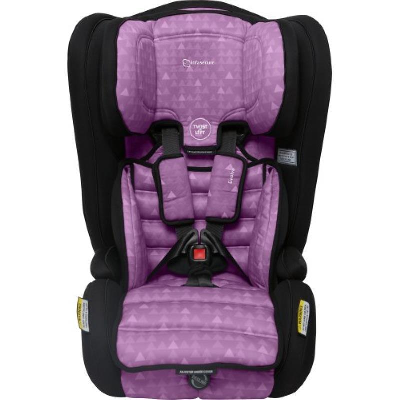 infa secure evolve treo convertible booster seat purple ebay. Black Bedroom Furniture Sets. Home Design Ideas
