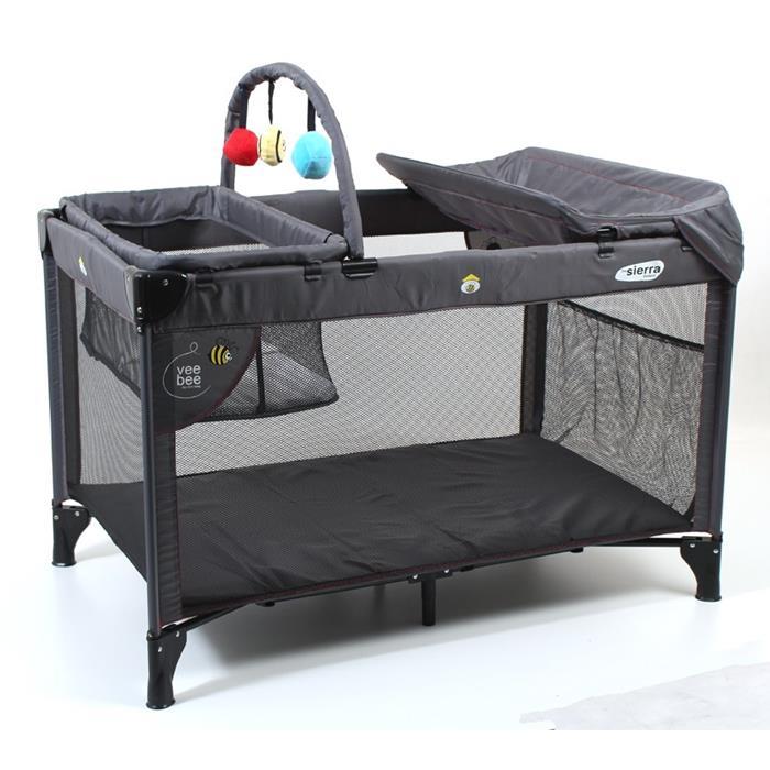 Vee bee sierra portacot baby commuter portable cot slate for Big w portacot