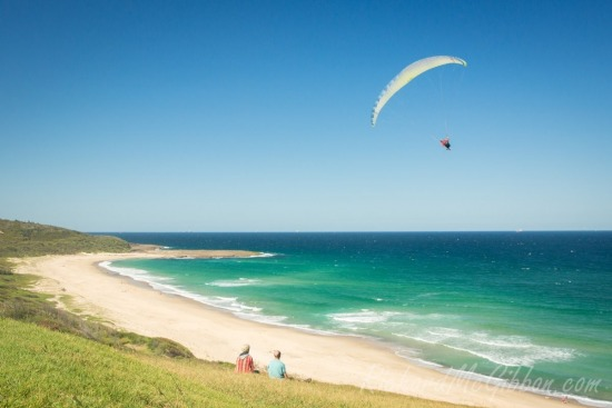 Flying at Catherine Hill Bay