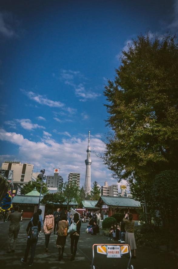 浅草寺望向晴空塔