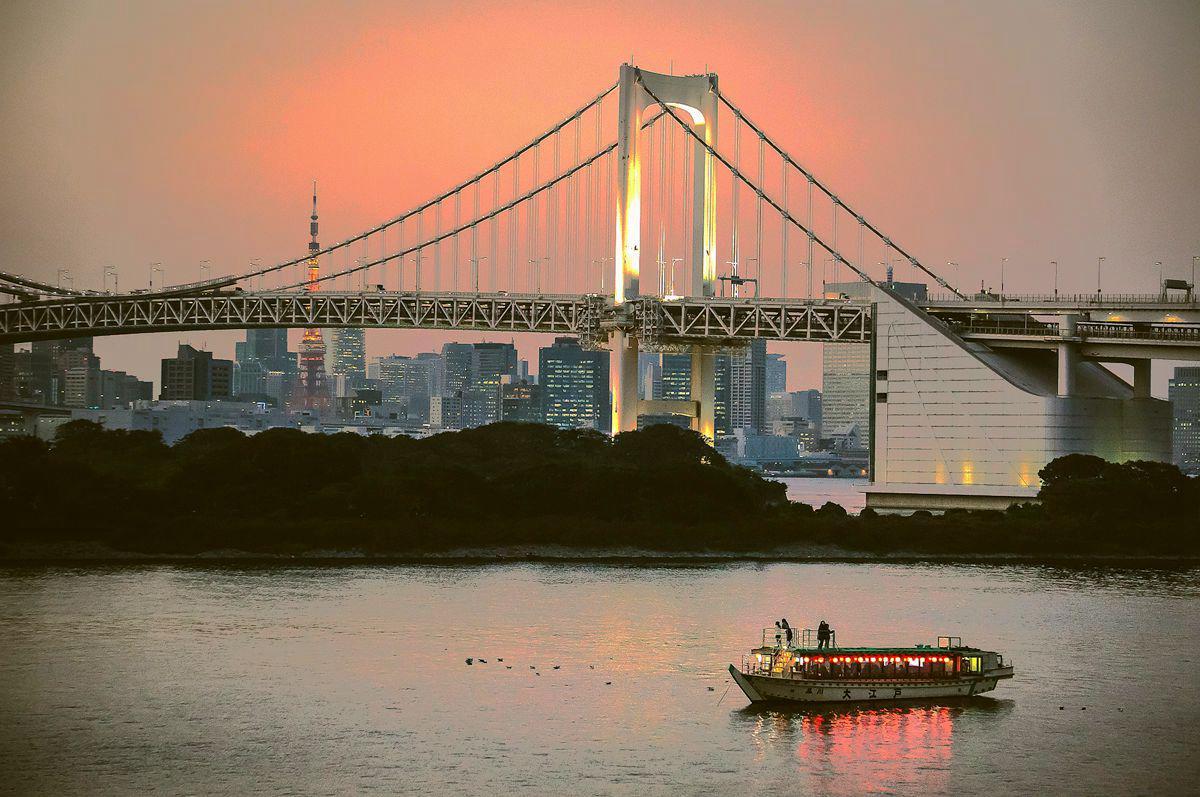 东京台场日落