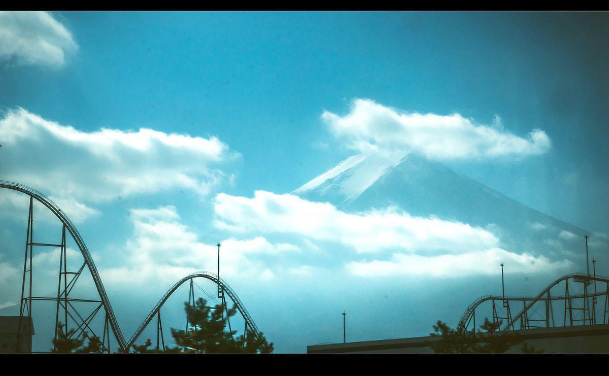 Mt Fuji from FujiQ