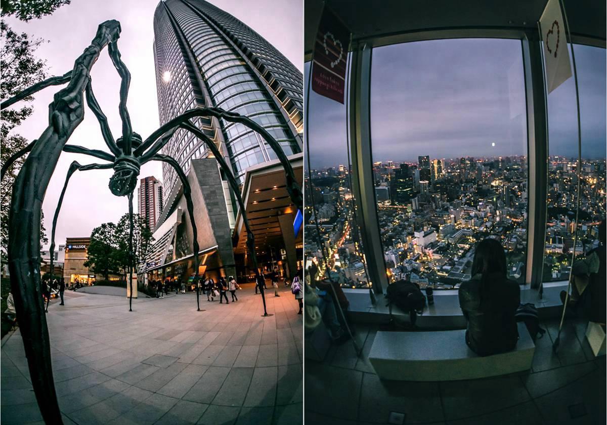 这个就是Mori Tower 下面有名的蜘蛛地标。 。。。。 Mori Tower Tokyo City View, 可以坐着观赏整个东京的夜。。。