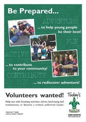 Volunteers wanted poster