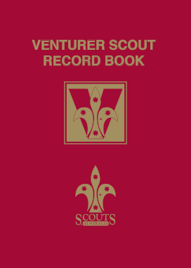 Venturer Scout Record Book Cover