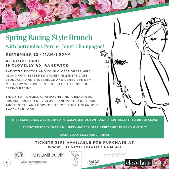 Spring racing style brunch 22 september