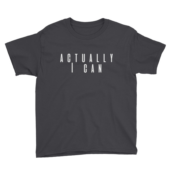 Actually I can Youth Short Sleeve T-Shirt