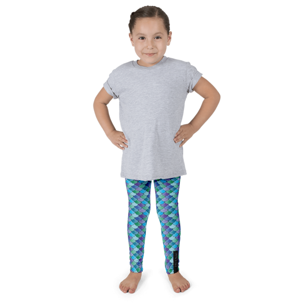 Peacock Mermaid Kid's leggings