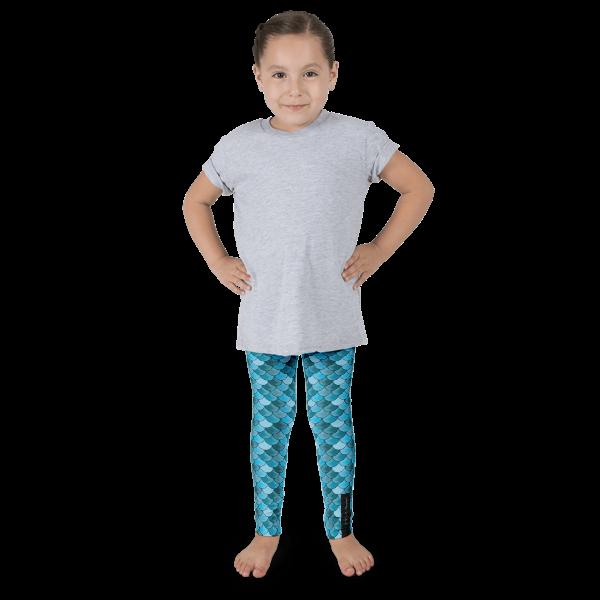 Blue Mermaid Kid's leggings