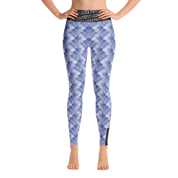Purple Mermaid Yoga Leggings