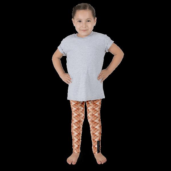 Orange Mermaid Kid's leggings