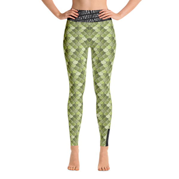 Olive Mermaid Yoga Leggings