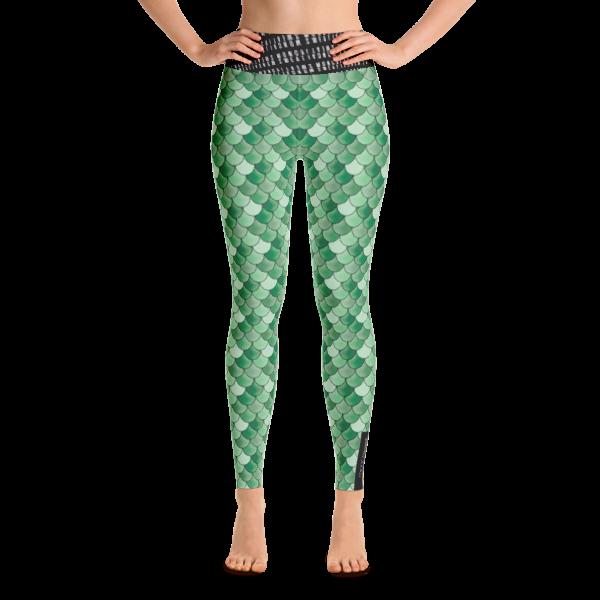 Green Mermaid Yoga Leggings