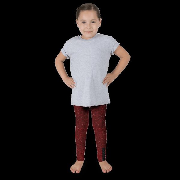 Burgundy Glitz Kid's leggings