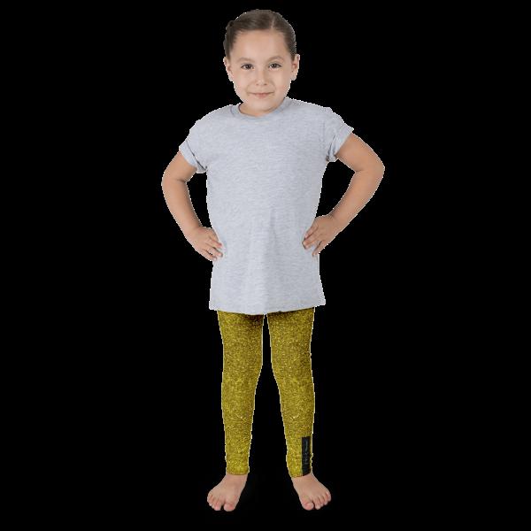 Gold Glitz Kid's leggings