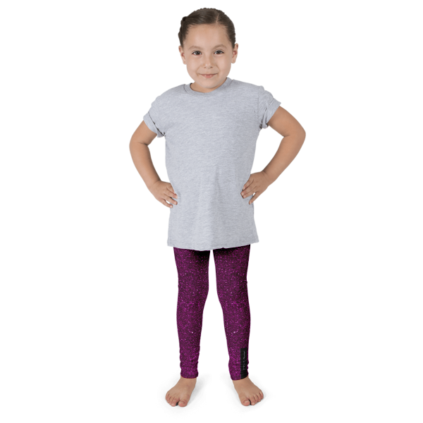 Purple Glitz Kid's leggings