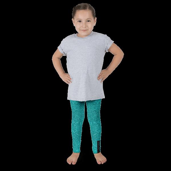 Aqua Glitz Kid's leggings
