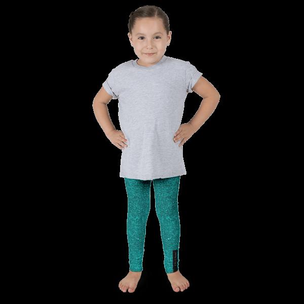 Teal Glitz Kid's leggings