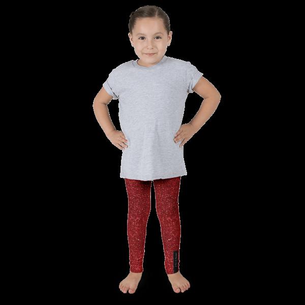Red Glitz Kid's leggings