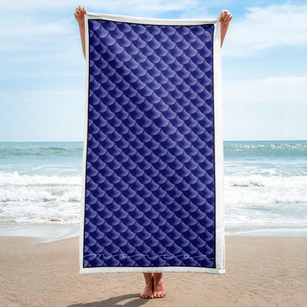 Navy Mermaid Towel