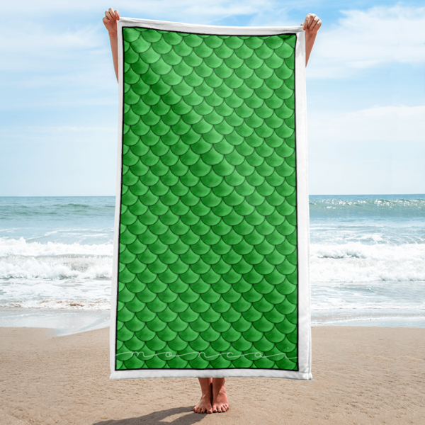 Lime Mermaid Towel