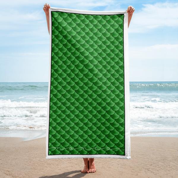 Green Mermaid Towel