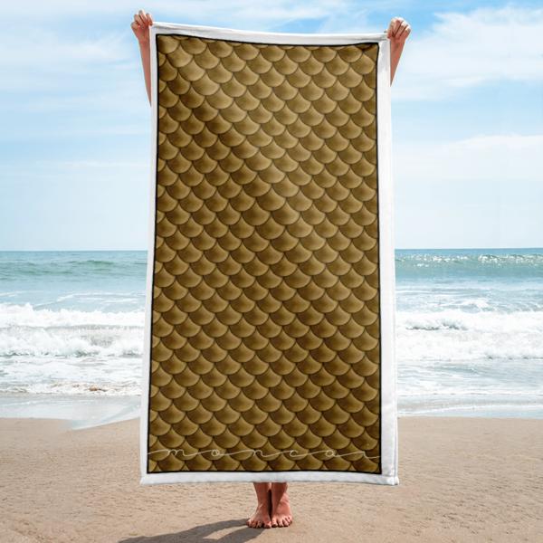 Golden Mermaid Towel