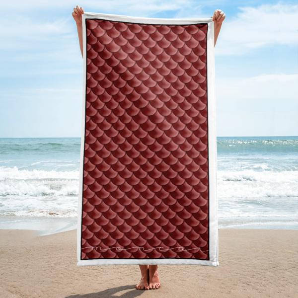 Burgundy Mermaid Towel