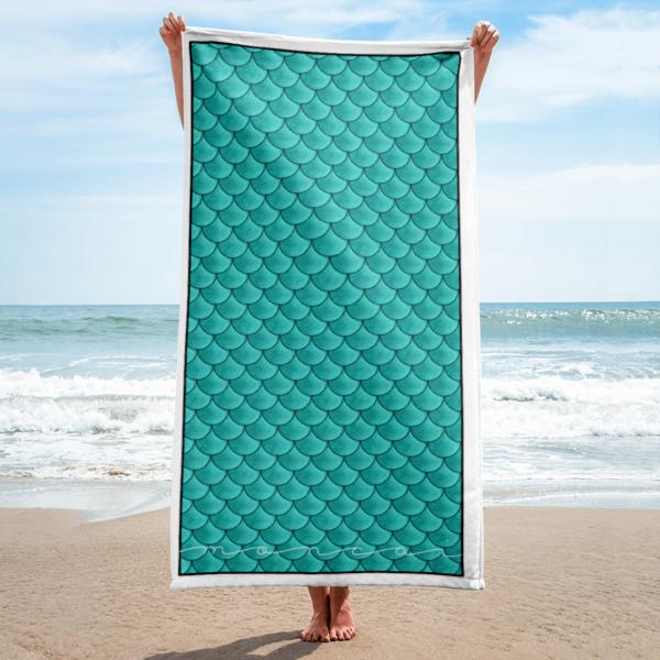 Aqua Mermaid Towel