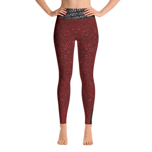 Burgundy Yoga Leggings