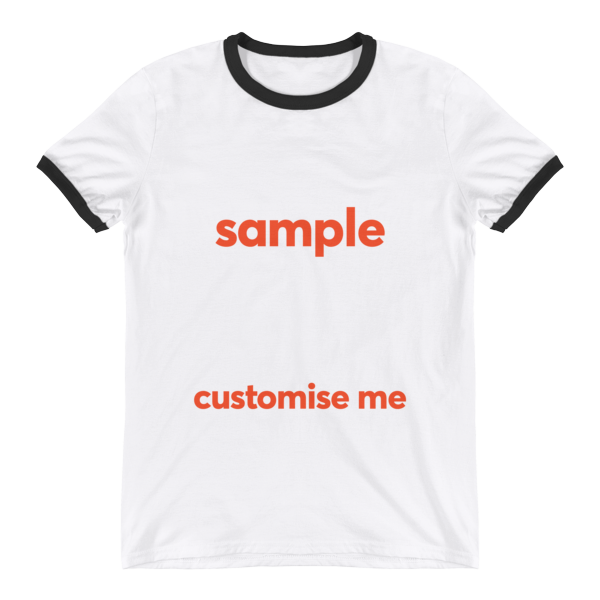 Customisable Ringer T-Shirt