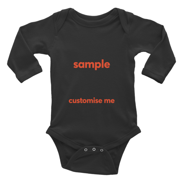 Customisable Infant Long Sleeve Bodysuit
