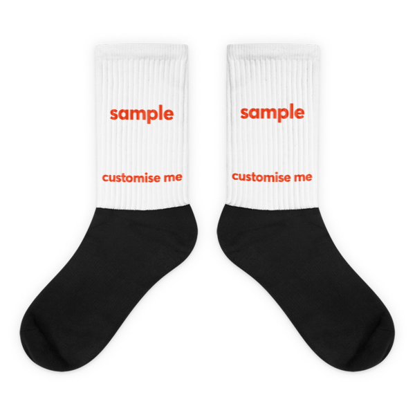 Customisable Black foot socks