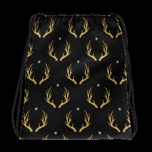 Golden Deer Drawstring bag