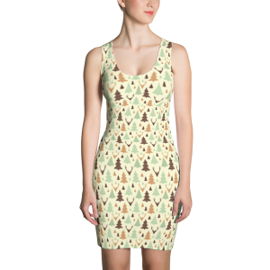 Forest Tree Sublimation Cut & Sew Dress