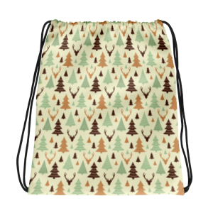 Forest Tree Drawstring bag