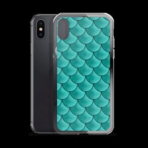 Aqua Glitz Mermaid iPhone Case